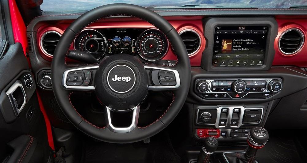 Jeep Wrangler ön konsol