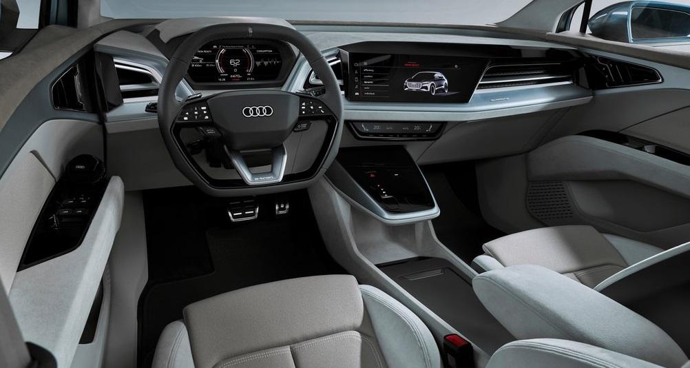 Audi Q4 e-tron concept iç dizayn