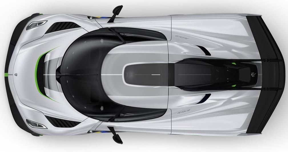 Koenigsegg Jesko üst görünümü