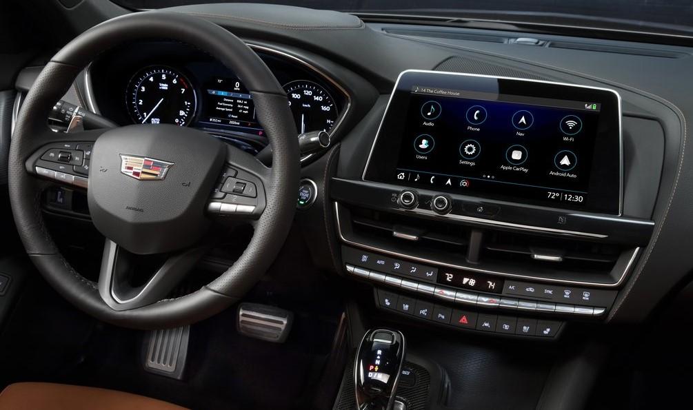 Cadillac CT5 ön konsol görünümü