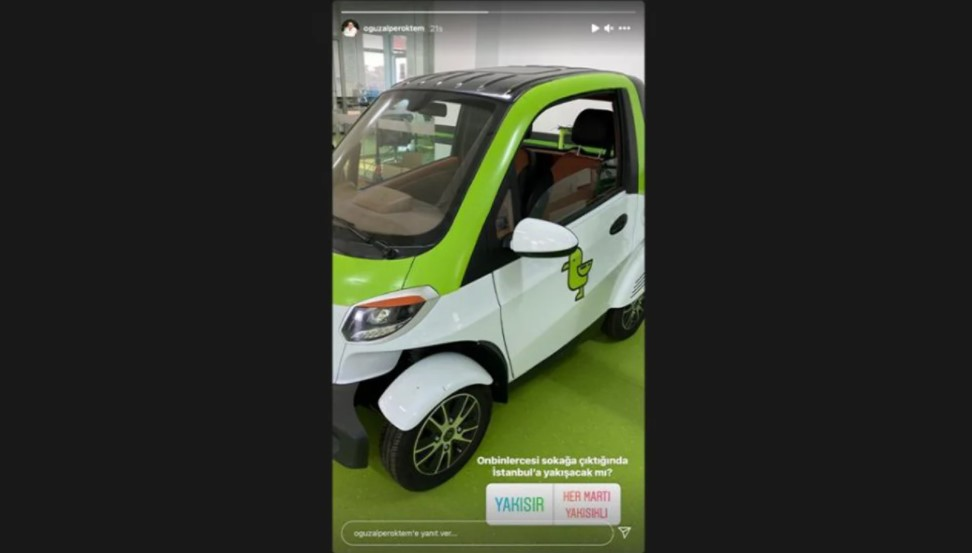 Martıelektrikli otomobil